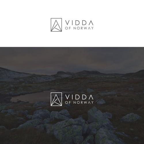 modern logo for Vidda of Norway