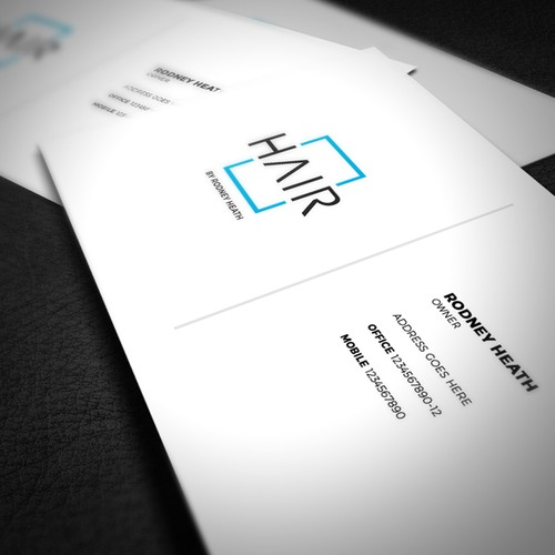 Business card approach for Hair by Rodney Heath