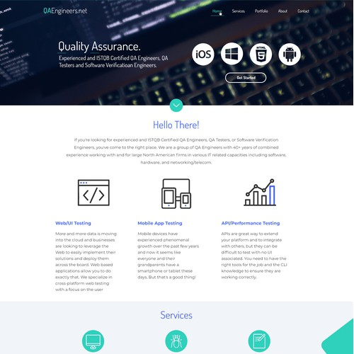 Clean, professional and impactful design for a technology company
