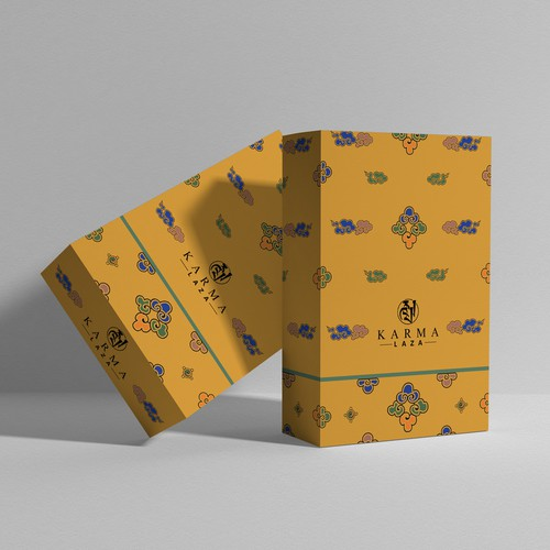 packaging design for Karma Laza