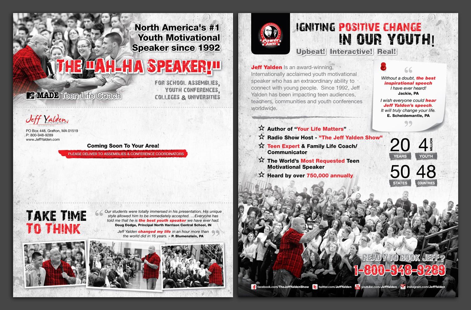 postcard or flyer for Jeff Yalden International