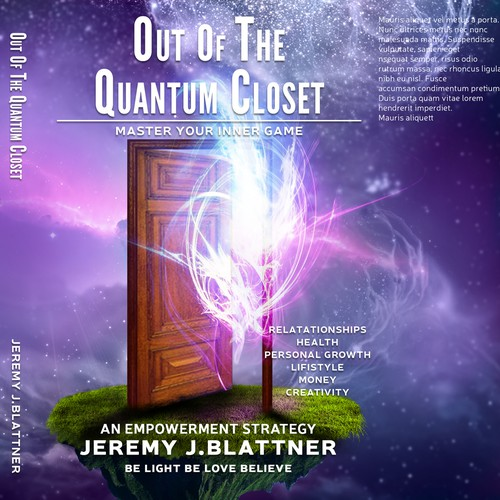 Book cover design for Quantum Closet