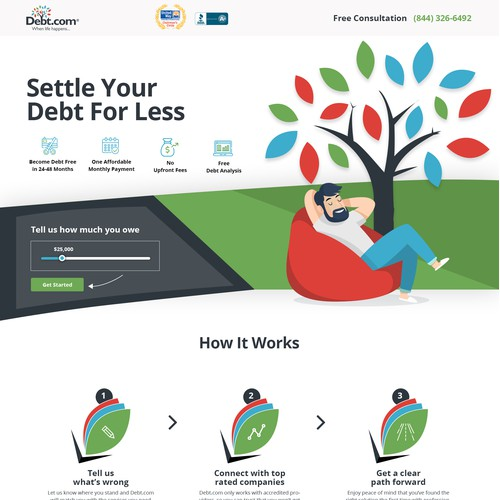 debt solutions web design