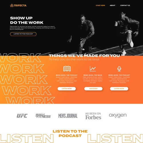 Fitness Podcast Homepage