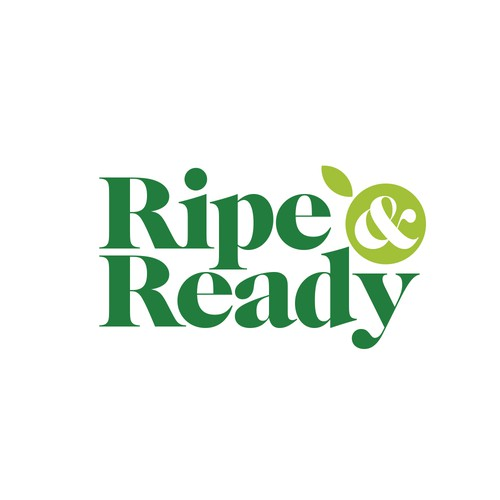 Logo design for Ripe & Ready; a new and healthy way to enjoy fruit!
