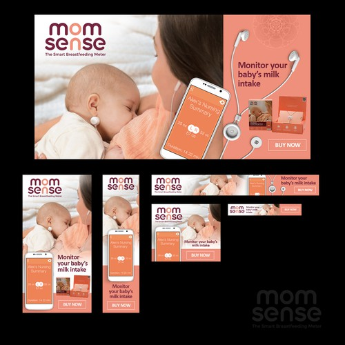 Banners needed for Smart Breastfeeding Monitor Targeted Towards Moms