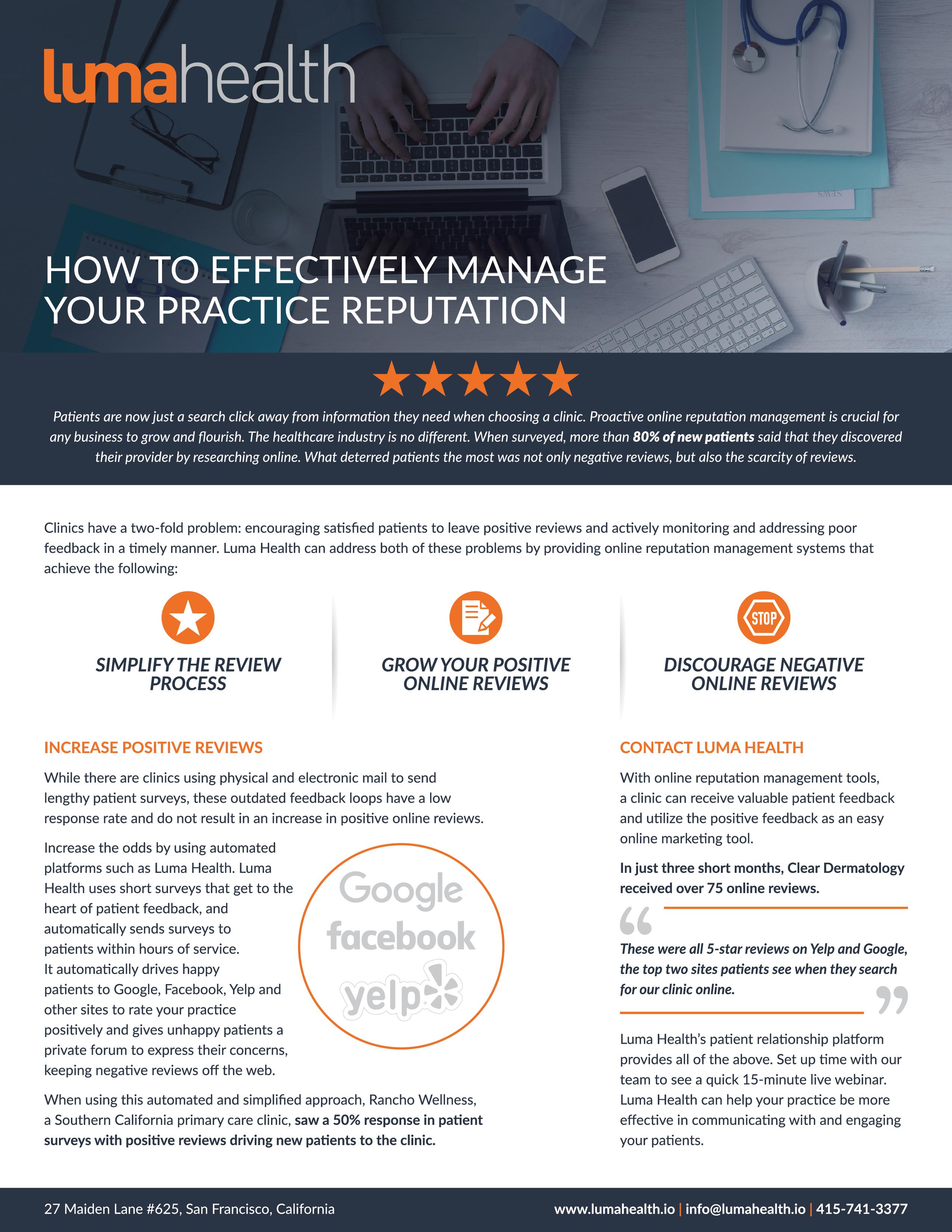 Reputation Management White Paper