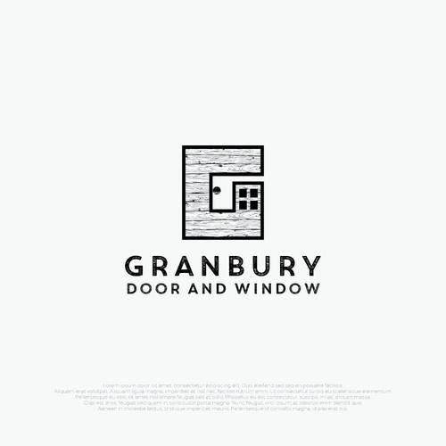 iconic logo for Granbury door & window