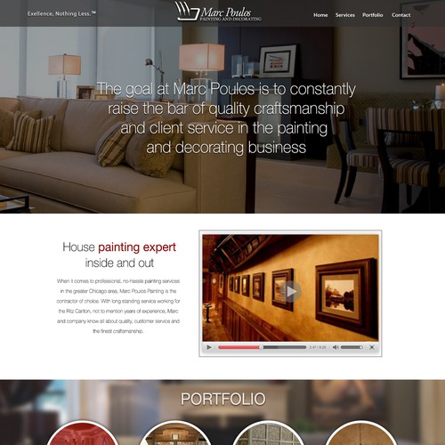 Web site for Home Painting Company