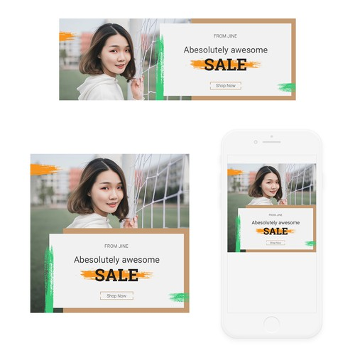 Banners for democratic beauty brand for Southeast Asia