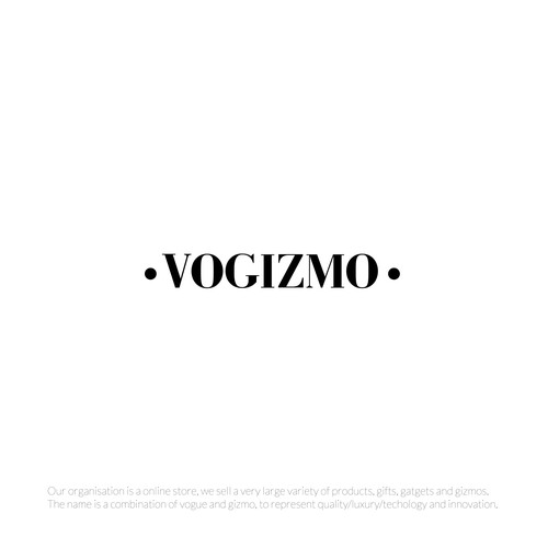 logo for VOGIZMO, an online store.