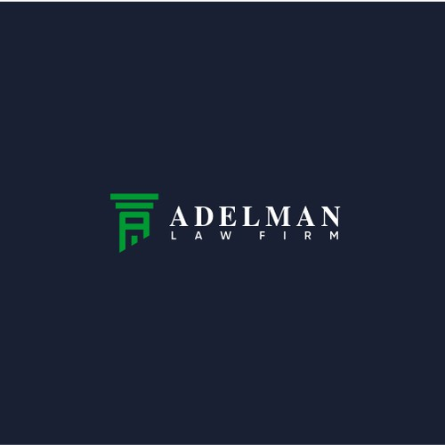 Law Firm logo concept for ADELMAN
