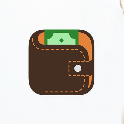 flat wallet icon
