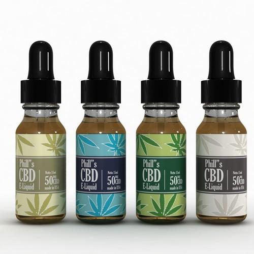 Phill's Cbd E-liquid Label
