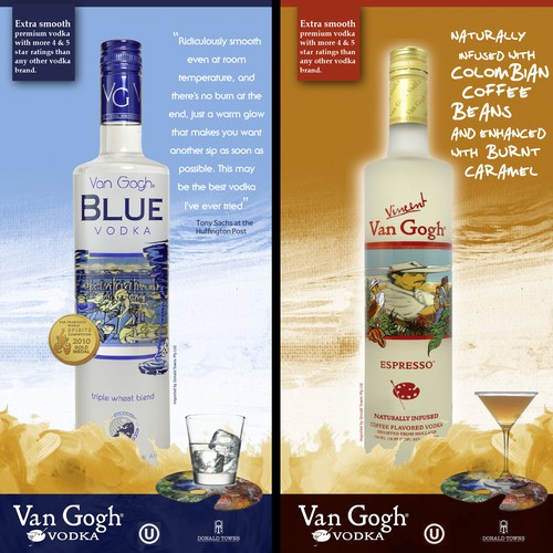 Create the next signage for Van Gogh Vodka