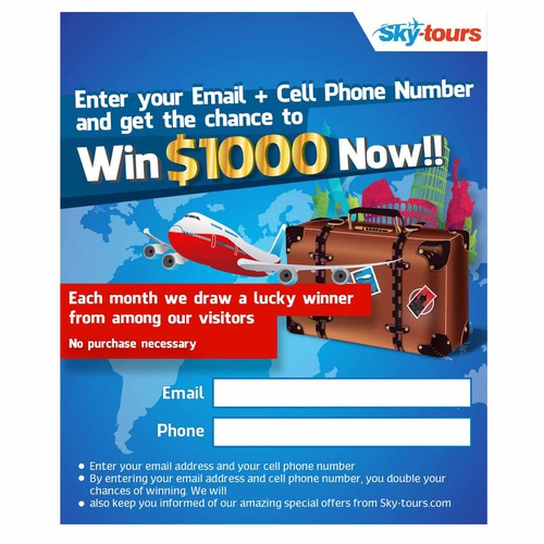 popup banner for web site www.sky-tours.com
