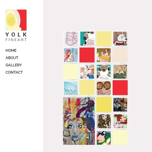 Yolk fine art logo design