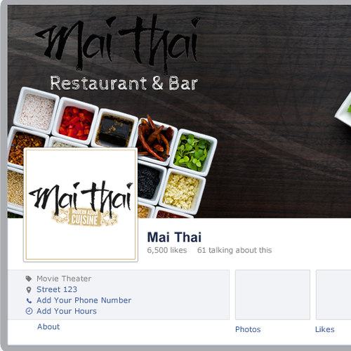 Thai Restaurant and Bar Fecebook Cover