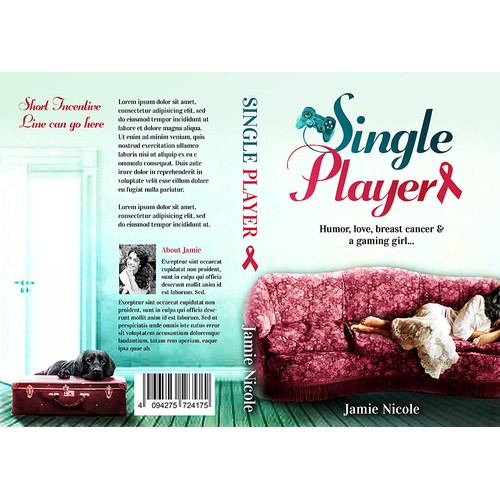 Cover design for complex book about humor, love, breast cancer, and a gaming girl