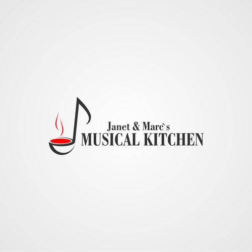 Design a logo for brandnew concept: Live cooking and musical highlights in your own home