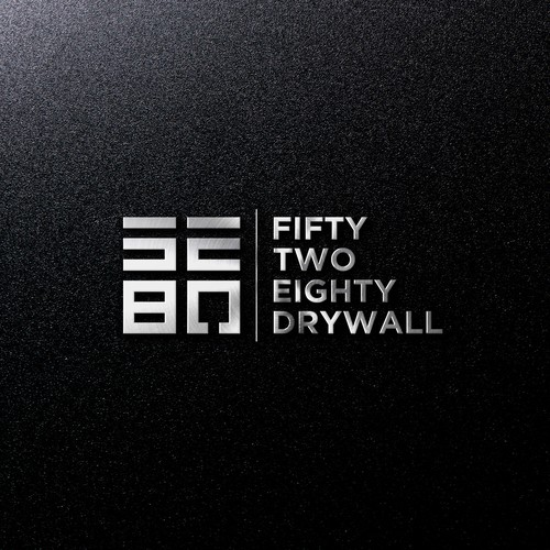 Strong and bold logo concept for 5280 Drywall.