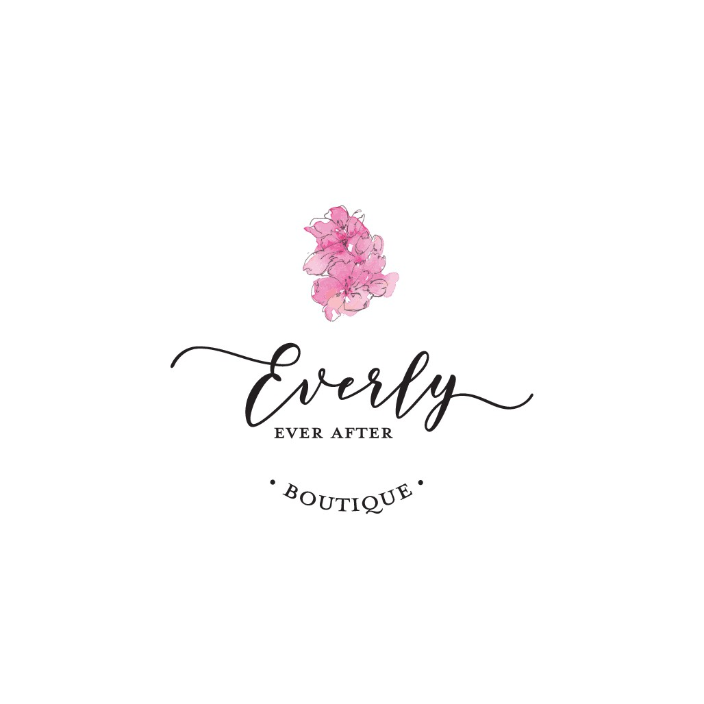 Create a whimsical/fairytale logo for Everly Ever After Boutique.