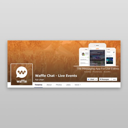 Waffle Facebook Page Design