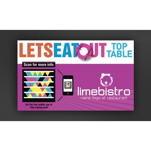 Restaurant Decals with 2D Barcodes