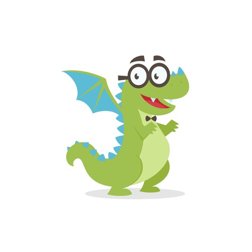 Friendly & Nerdy Dragon Mascot for TeamGantt