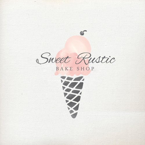 Chic logo for ice cream / bake shop