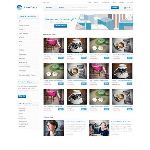 Website Design for E-commerce Business - Consumer Retailer