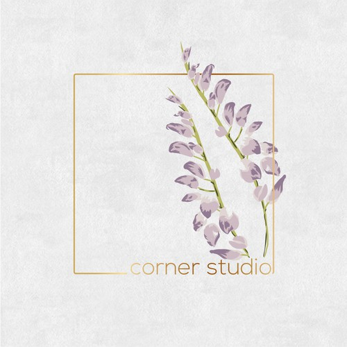 Elegant hair studio logo