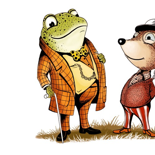 illustration Toad and Mouse