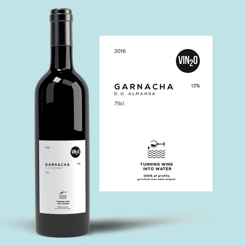 VIN2O wine label