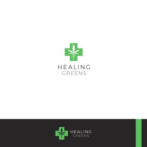 medical cannabis logo concept
