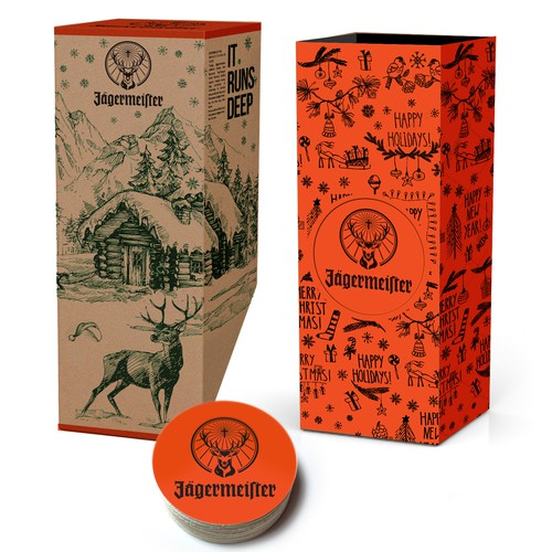 Jagermeister Christmas package design