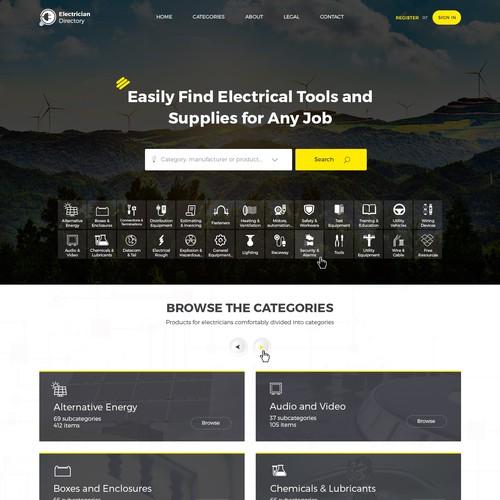 Website design for Electrician Supplier Portal