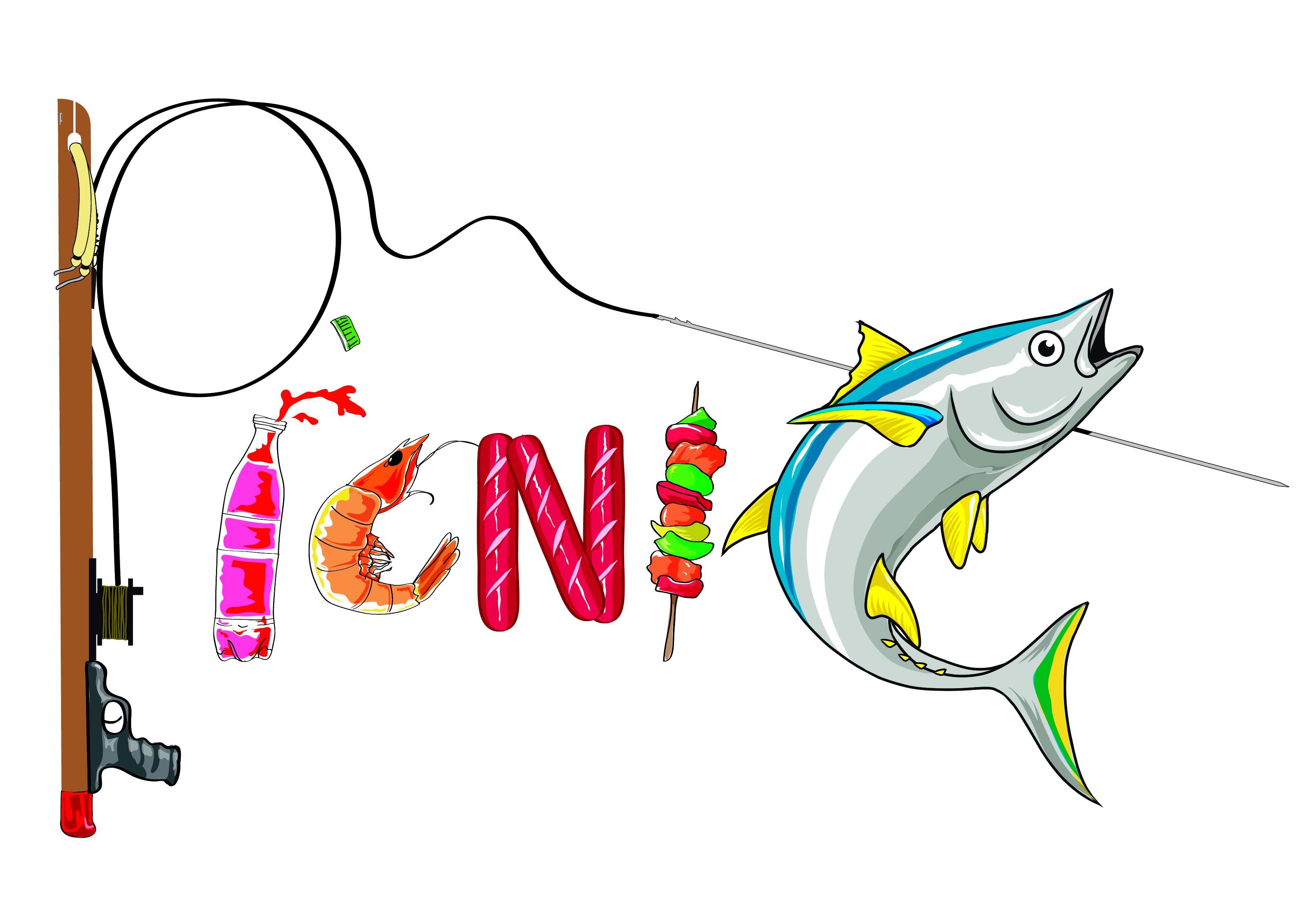 Funny boat name logo - Picnic