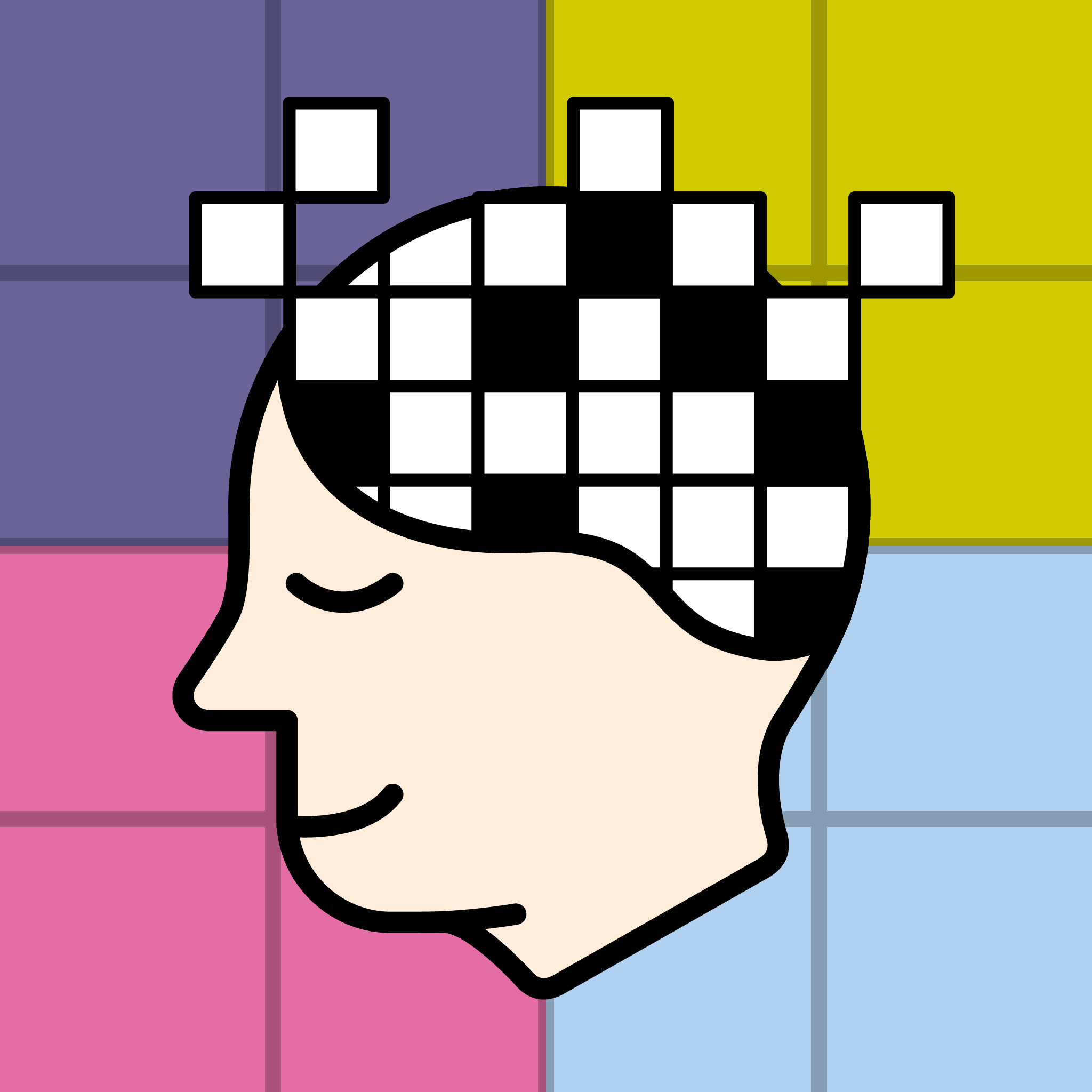 App icon for casual educational game - 'Learn Cryptic Crosswords'