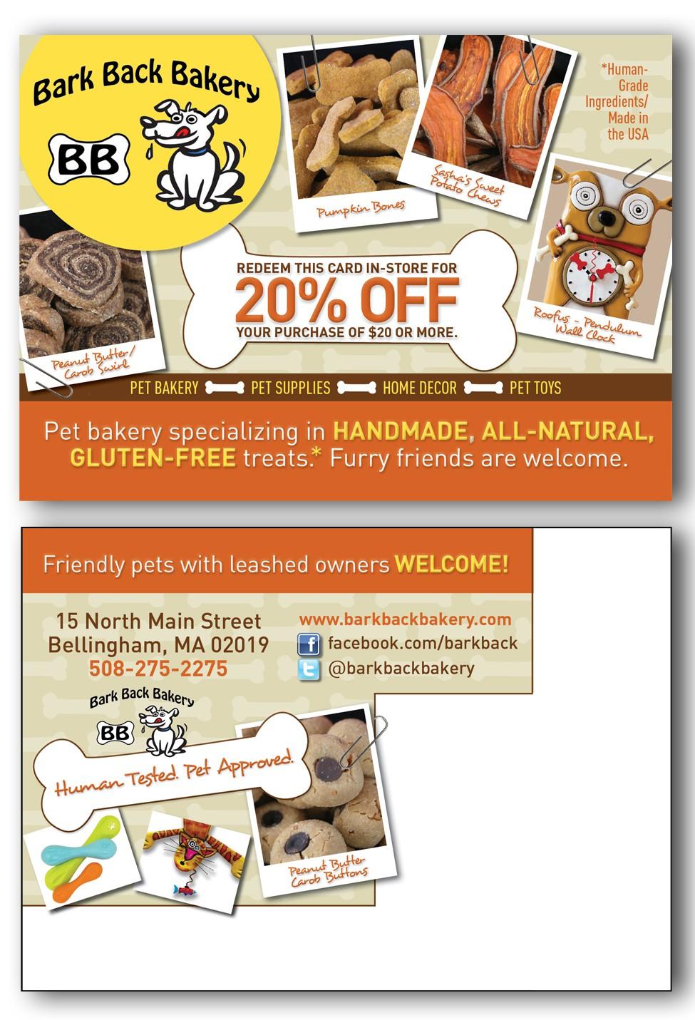 """Bark Back Bakery needs a new postcard (4 1/4""""x6"""")"""