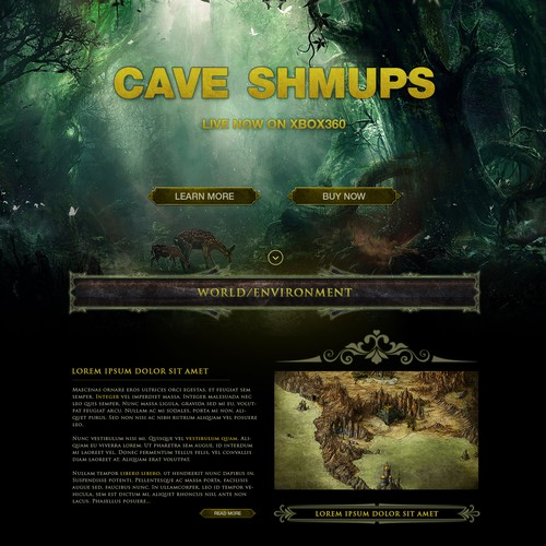Console Game - Presentation Landing Page