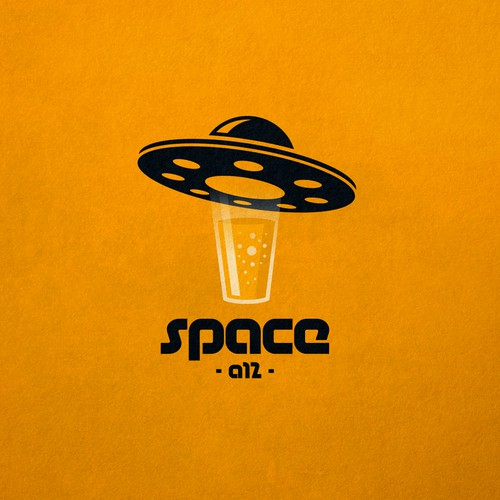 Creative logo for Space A12 bar.