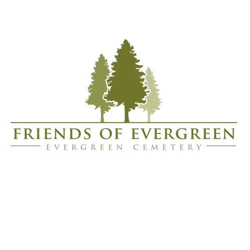 Create a logo for the Friends of Evergreen-Evergreen Cemetery-Portland, Maine!