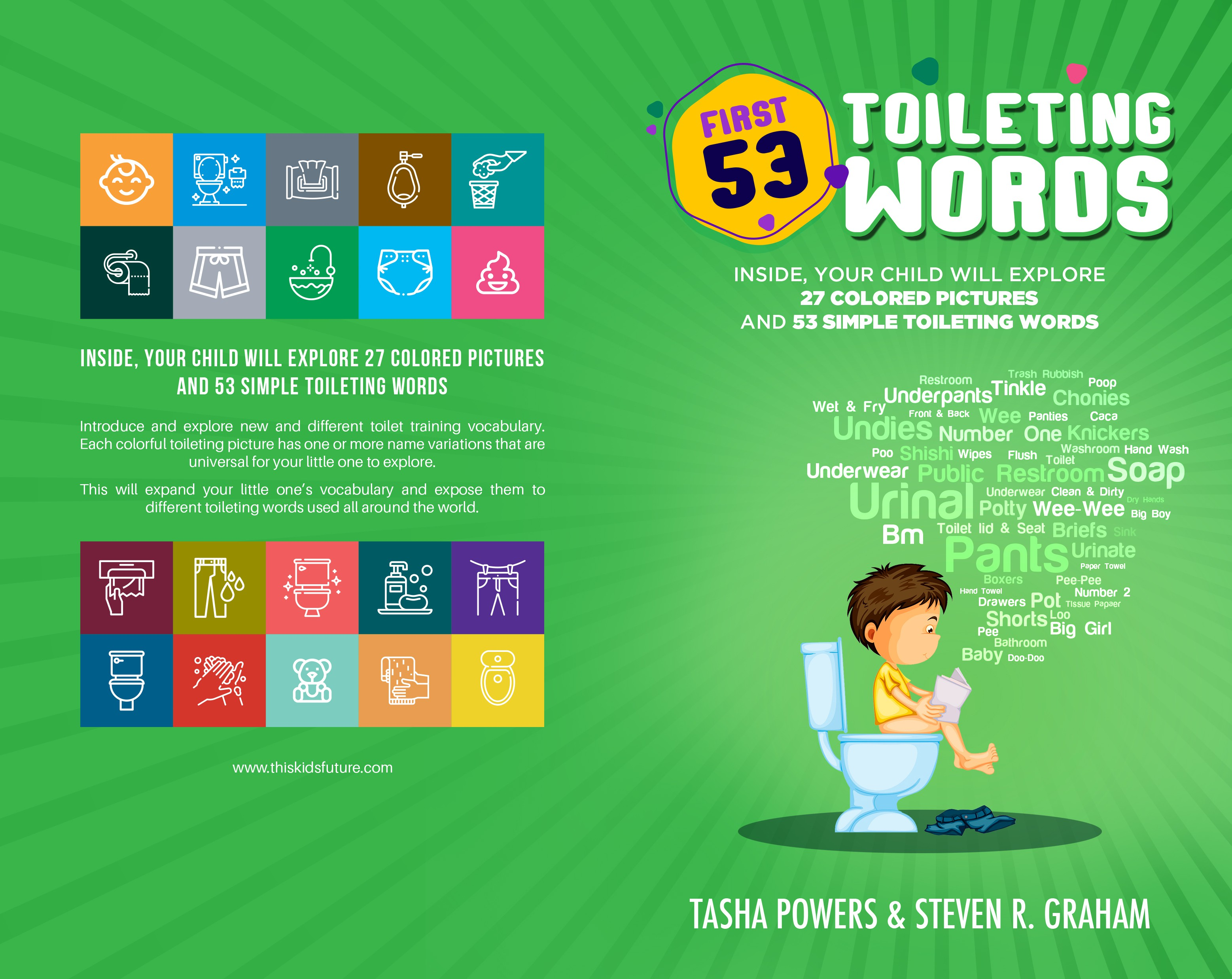 First 53 Toileting Words- Children's Book Cover