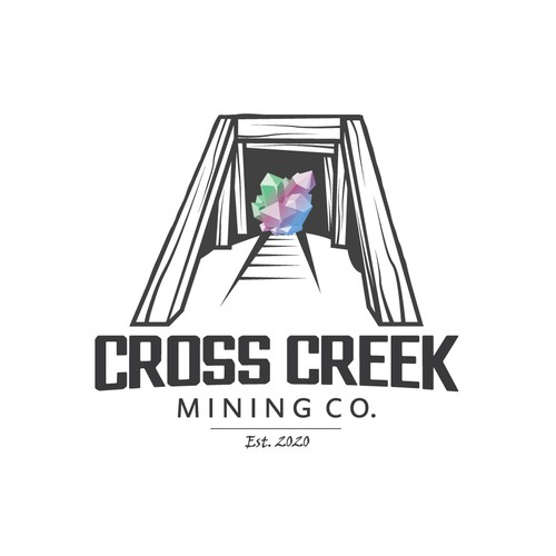 Elegant logo for mining company