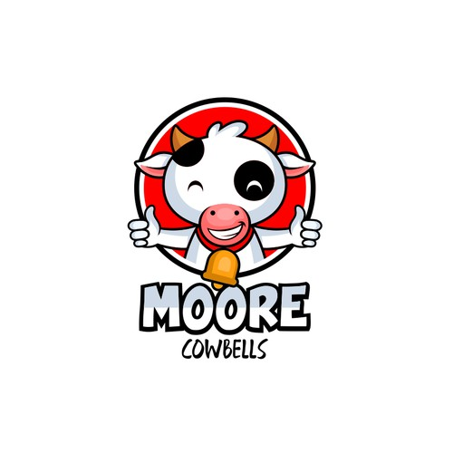 cow logo for Moore Cowbells