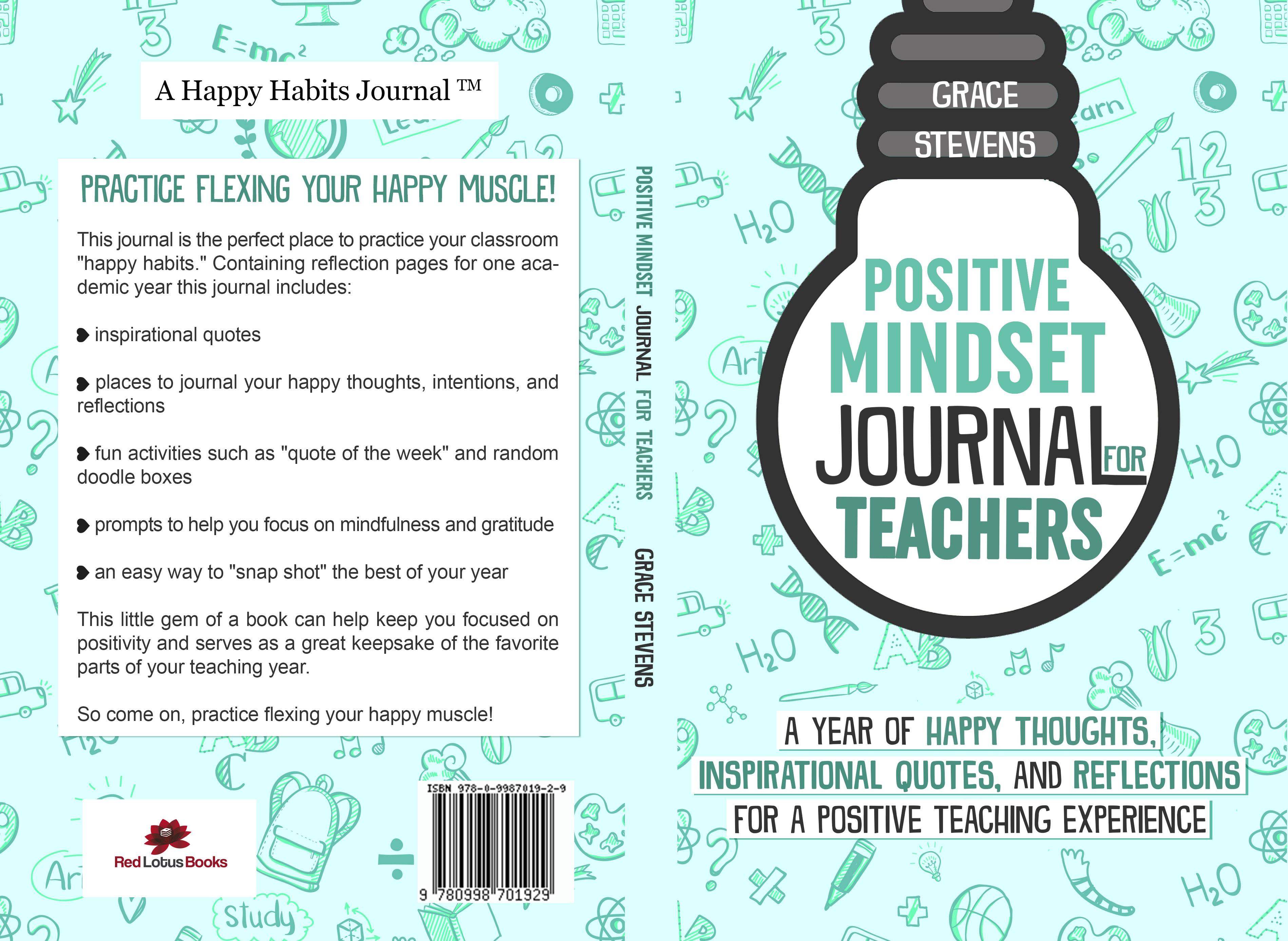 Design a cover for a positivity journal for teachers