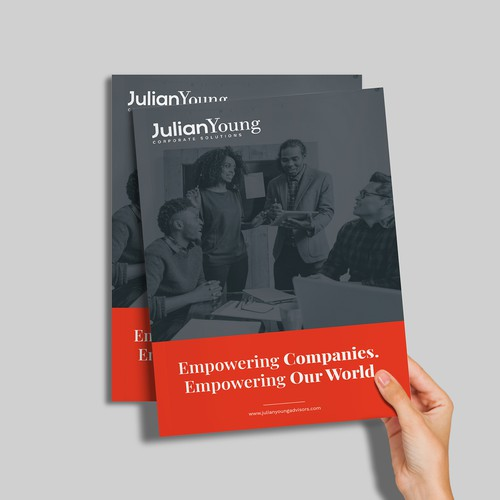 Brochure concept for JulianYoung