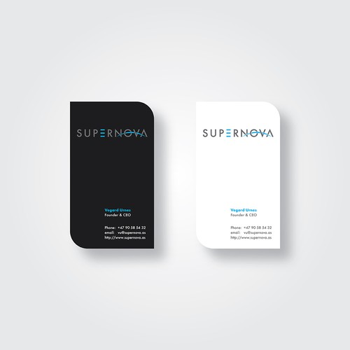 Supernova Business Card Concept
