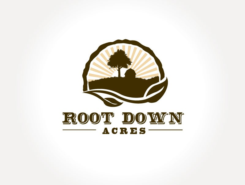 Logo for organic farm: Root Down Acres